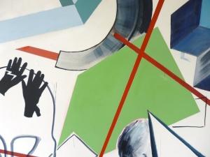 Zonder titel, 2013, detail van muurschildering, CIAP, Hasselt